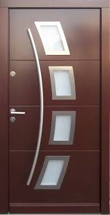 model 006 modern in stock wenge finish wood exterior door modern