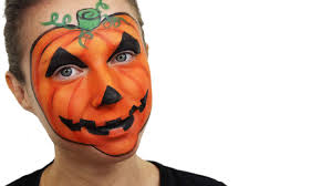 halloween pumpkin face paint tutorial snazaroo youtube