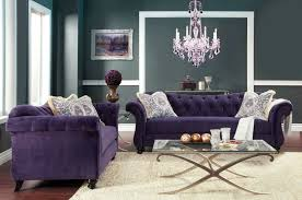 Living Room With Purple Sofa Antionette Purple Sofa Set Sm2222