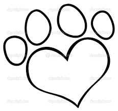 paw print coloring page funycoloring