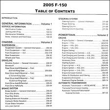 Ford F 150 Truck Bed Dimensions 2005 Ford F 150 Repair Shop Manual Original 2 Volume Set