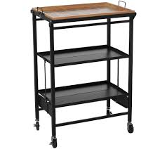 Kitchen Utility Table by Temp Tations Old World Folding Kitchen Cart W Removable Tray