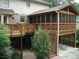 outdoor cool and unusual backyard deck ideas covered deck