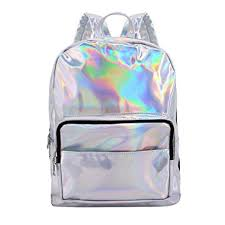holographic bags candice women silver fashionable hologram holographic