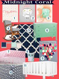 Seafoam Green And Coral Bedroom Trending Now Midnight Navy Seafoam Mint Green And Coral Nursery