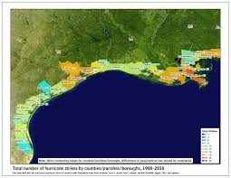 Map Gulf Of Mexico by Tropical Cyclone Climatology