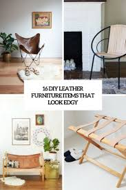 home furniture and items 16 diy leather furniture items that look edgy shelterness