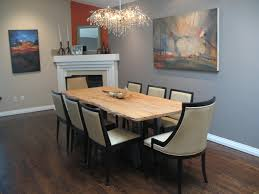 dining room dark dining table white chairs airmaxtn