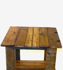 reclaimed wood end table frank reclaimed wood plank top end table home furniture bottom s