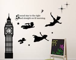 peter pan wall decal tinkerbell wendy john michael flying