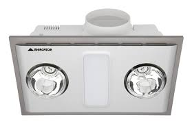 cosmo quattro 12w led bathroom 3 in 1 exhaust fan light heater silver