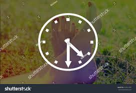 abstract clocks abstract clocks half past four stock illustration 314517785