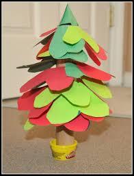 paper xmas tree craft