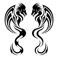 dragon tribal tattoo royalty free stock images image 19051979