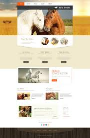 html template horse moto cms html template 51941