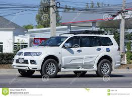 mitsubishi thailand mitsubishi pajero suv car editorial stock image image 65907799