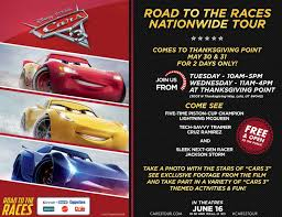 cars 3 road to the races is coming to thanksgiving point the