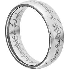 the one ring wedding band ring to rule them all tungsten band lort trilogy 7mm