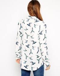 bird blouse asos asos bird print blouse