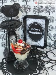 Halloween Ice Cream Cake by Halloween Scary Sundaes Party Pinching