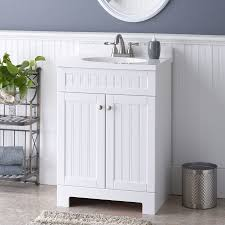 shop style selections ellenbee white integral single sink bathroom