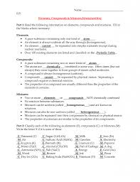 Counting Atoms Worksheet 1 General Elements Compounds And Mixtures Worksheet Answers