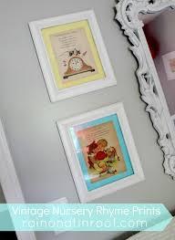 nursery rhymes wall art shenra com diy vintage nursery rhyme prints simple cheap