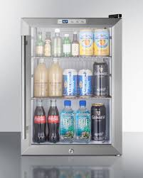 Stainless Steel Mini Fridge With Glass Door by Scr312lbicss By Summit In Souderton Pa Compact Commercial
