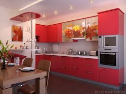 pictures of kitchens modern red kitchen cabinets