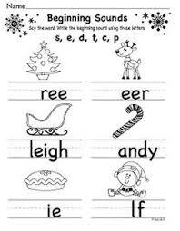 christmas themed worksheets for kindergarten new year info 2018