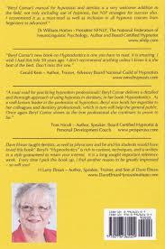 hypnodontics a manual for dentists and hypnotists beryl comar