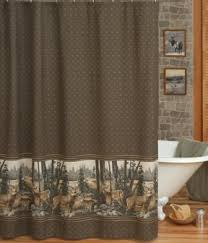 Vinyl Window Curtains For Shower Amazon Com Whitetail Dreams Deer Print Shower Curtain And