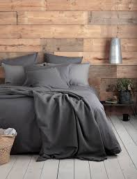 charcoal bedding deep dark charcoal bed linen woven from 100 cotton with the
