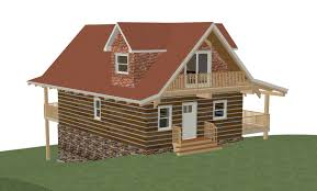 Log Cabin Floor Plans With Loft by Log Home Floor Plan 24 U0027x36 U0027 864 Square Feet Plus Loft