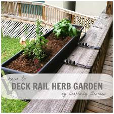 how to create a deck rail herb garden fits many deck rail