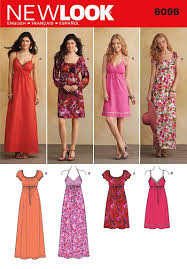 amazon com simplicity new look pattern 6096 misses dresses with