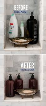 bathroom staging ideas shower organization before and after bathroom ideas