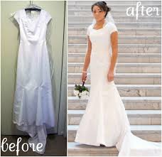 wedding dress alteration attached lace jacket reveal heather