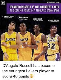 Lakers Meme - hitelias sports bureau d angelo russellis the youngest laker to