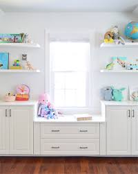 Floating Shelves For Tv by Adding Built Ins U0026 White Floating Shelves Around A Window Niche