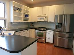 Before And After White Kitchen Cabinets Remodelaholic Diy Refinished And Painted Cabinet Reviews