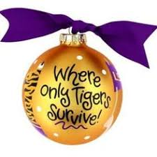 ornament lsu tigers painted