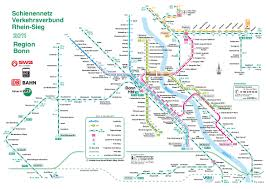 Germany Rail Map by Stadtbahn Bonn Metro Map Germany