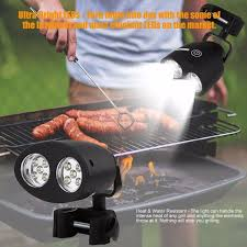 led bbq grill lights practical 10 led bbq grill barbecue light outdoor handle mount clip