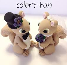 squirrel cake topper squirrel wedding cake topper choose your colors