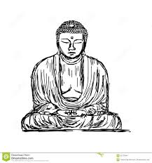 illustration vector doodle hand drawn of sketch the great buddha