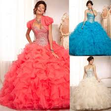 coral pink quinceanera dresses coral pink blue organza gown sweetheart quinceanera