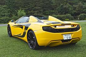 Yellow Mustang With Black Stripes 2013 Mclaren Mp4 12c Spider Volcano Yellow Black Stripes