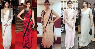 saree draping new styles western saree draping style to steal from sonam kapoor