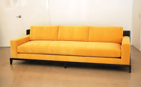 Single Sofa Designs For Drawing Room Living Room Single Cushion Sofa For 3 People With Pillowed Back